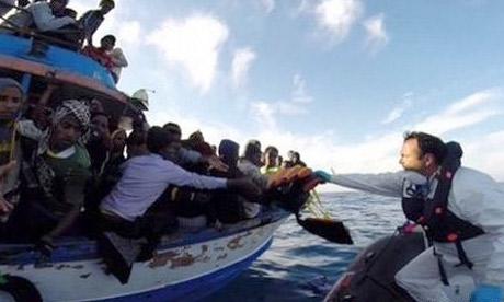 صدها مهاجر در آب های لیبی غرق شدند