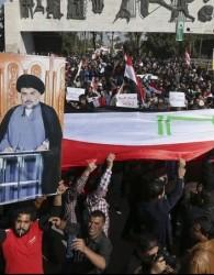 تحصن معترضان عراقی در منطقه خضراء