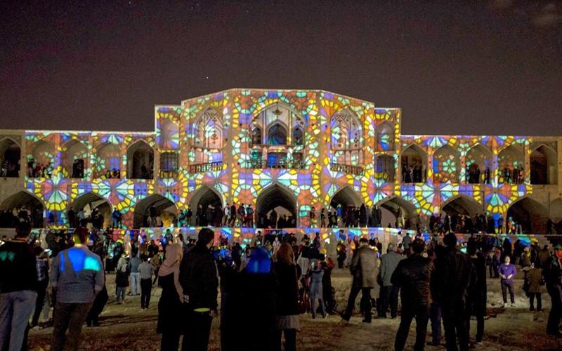 نورپردازی سه بعدی آثار تاریخی اصفهان