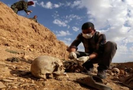 کشف گور جمعی با ۷۵ جسد در حویجه