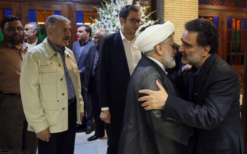 سیاسیون در مجلس ترحیم پدر مصطفی تاجزاده