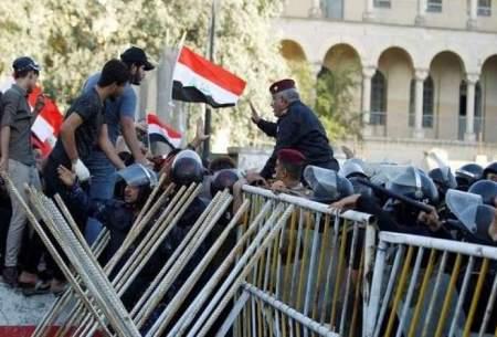 درگیری نیروهای امنیتی با معترضان در بغداد