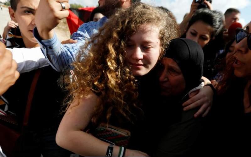 عهد تمیمی از زندان اسرائیل آزاد شد
