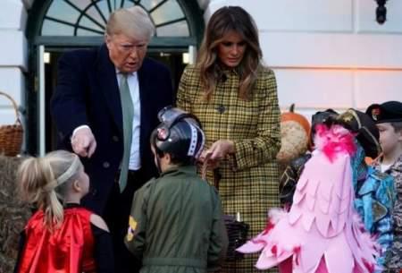 حضور ترامپ و ملانيا در جشن هالووین