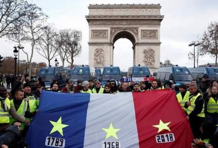 تظاهرات ۱۵۰۰جلیقه زرد در پاریس