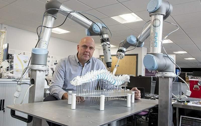 جراحی دقیقتر ستون فقرات با کمک یک ربات