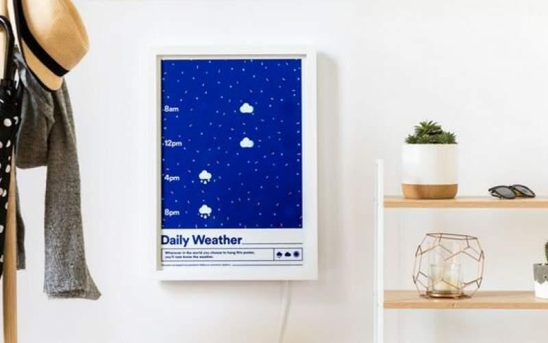 ابداع یک تقویم دیواری هواشناس!