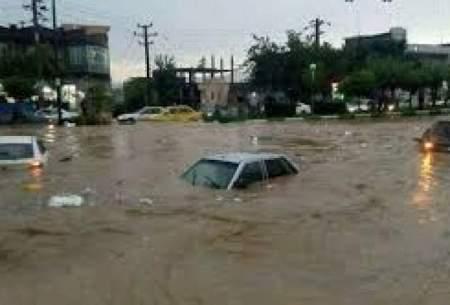 آب در مناطق سیلزده آققلا فروکش کرد