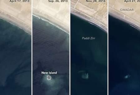 ناسا ناپدیدشدن یک جزیره را ثبت کرد