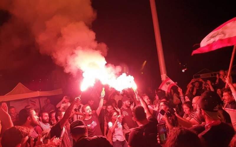 ادامه تظاهرات در لبنان به رغم استعفای حریری