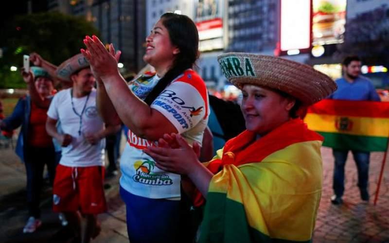 شادی مردم بولیوی از استعفای «اوو مورالس»