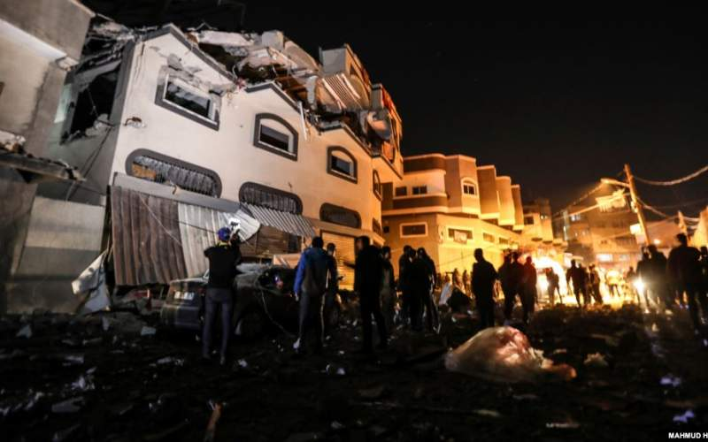 ساختمان هدف قرار گرفته در دمشق