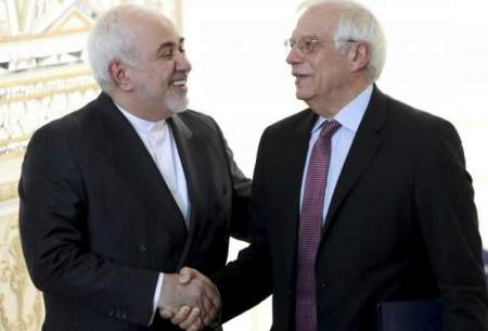 دیدار حوزپ بورل و با محمدجواد ظریف در تهران