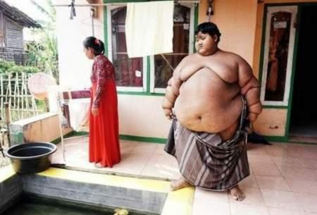 چاقترین پسر جهان لاغر شد/تصاویر