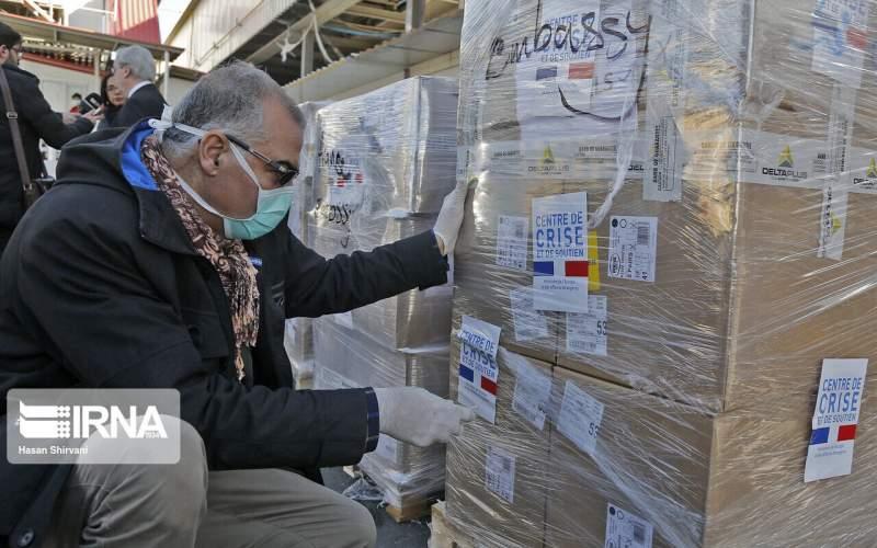 تحویل کمکهای بشردوستانه فرانسه به ایران