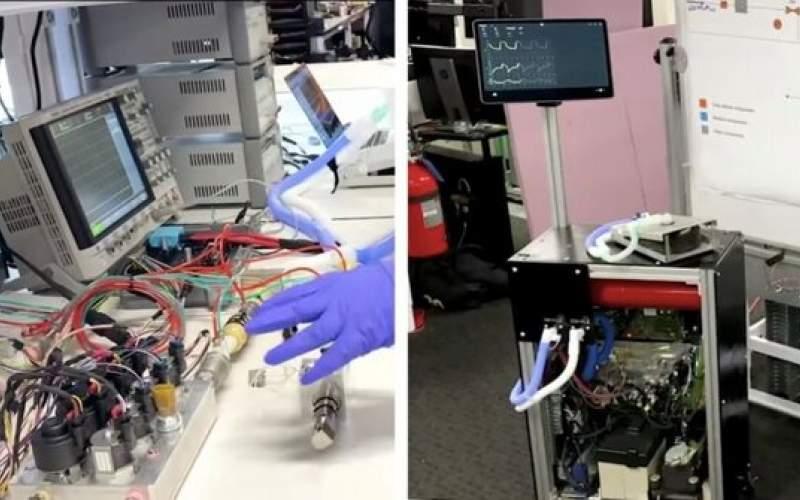 ساخت دستگاه تنفس مصنوعی ازقطعات خودرو
