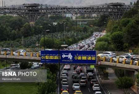 ترافیک صبحگاهی تهران در ۵ بزرگراه