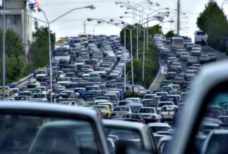 ترافیک سنگین در ۱۰ بزرگراه پایتخت