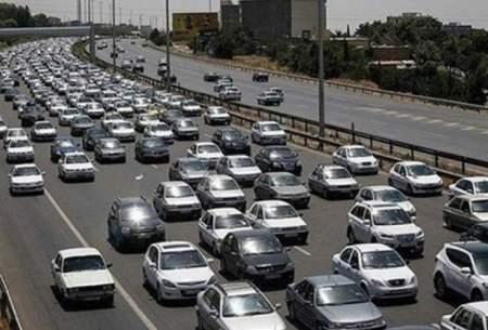 ترافیک نیمه سنگین در محور قزوین-رشت