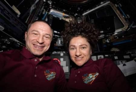 بازگشت دوتن ازفضانوردان ایستگاه فضایی به زمین