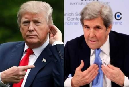 ترامپ: ایرانیها خواهان گفتوگو هستند اما جان كری نمیگذارد