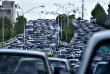 ترافیک سنگین در ۹ بزرگراه تهران