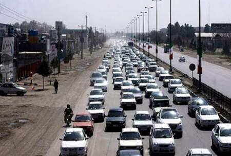 ترافیک پرحجم در ورودی شهر مشهد