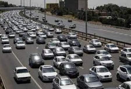 ترافیک نیمه سنگین در آزاد راه کرج_تهران