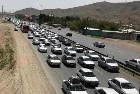 ترافیک سنگین در آزادراه قزوین_کرج
