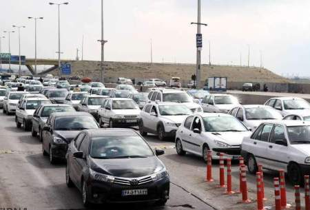 ترافیک سنگین در آزادراه قزوین-کرج-تهران