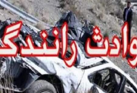 فوت ۴ نفر از اعضای یک خانواده در حادثه رانندگی