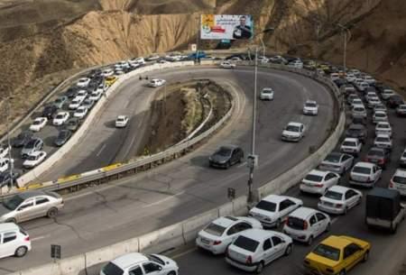ترافیک سنگین در آزادراه تهران-شمال و کندوان