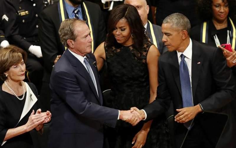 بوش و اوباما، آشوبگری و غارت را محكوم كردند