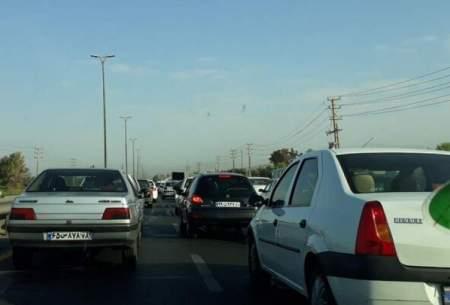 ترافیک پرحجم در مسیرهای بازگشت از شمال