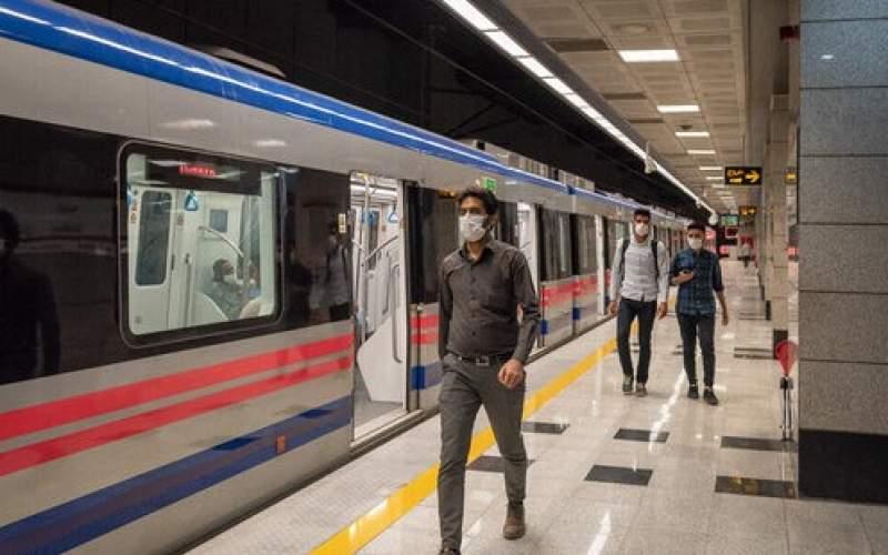 مدیرعامل مترو: ۹۵ درصد مسافران ماسک میزنند