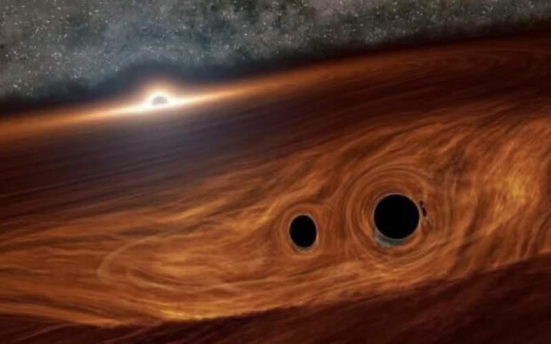 نور حاصل از برخورد ۲ سیاهچاله رصد شد