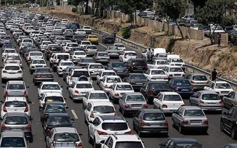 ترافیک نیمه سنگین در آزادراه قزوین-کرج-تهران
