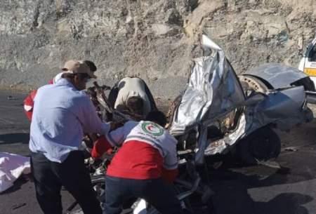 مرگ پدر و مادر و ۲ فرزند در تصادف