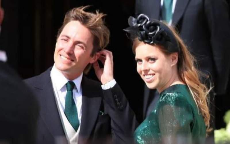 نوه ملکه بریتانیا در مراسم مختصری ازدواج کرد