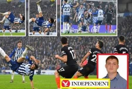 علیرضا جهانبخش بهترین گل لیگ برتر را زد