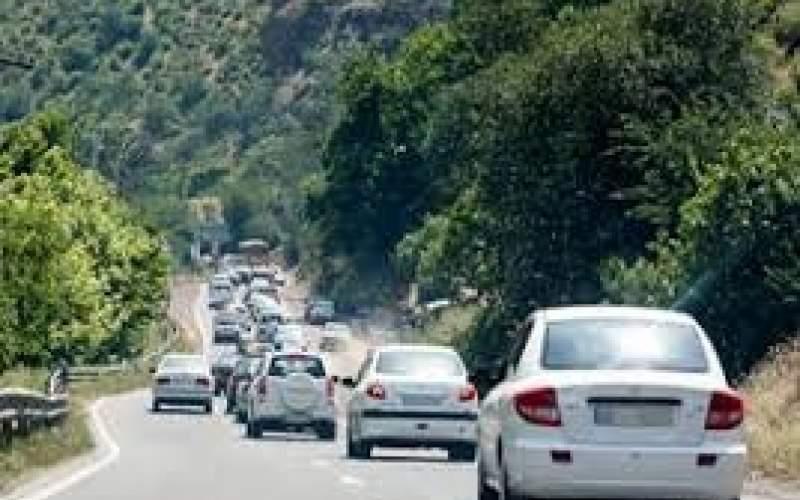 ترافیک پرحجم در جادههای مازندران