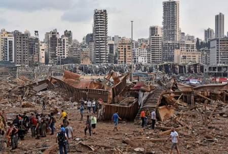 ویرانی نیمی از بیروت در تراژدی لبنان