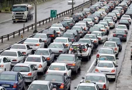 ترافیک سنگین در محور هراز و آزادراه قزوین-کرج
