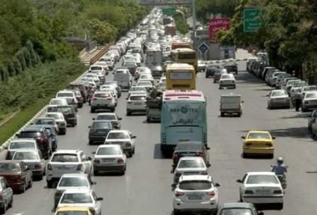 ترافیک نیمهسنگین در آزادراه قزوین-تهران