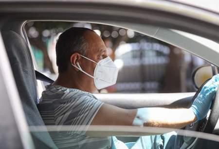 رانندگان بدون ماسک جریمه میشوند