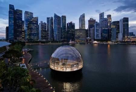 فروشگاه شناور اپل در سنگاپور /تصاویر