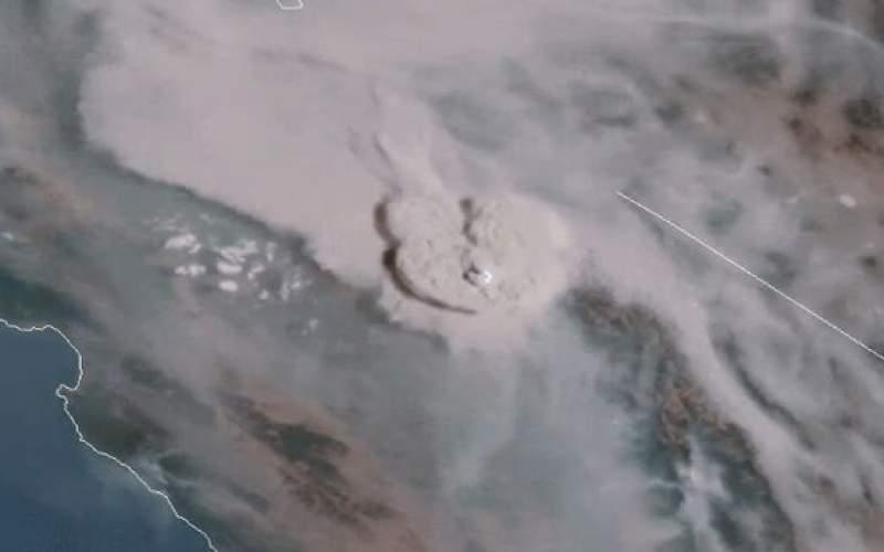 """رصد """"ابر آتش"""" کالیفرنیا از فضا/عکس"""