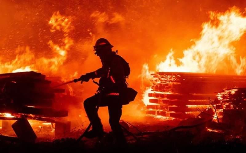تصاویر ماهوارهای از آتشسوزی کالیفرنیا