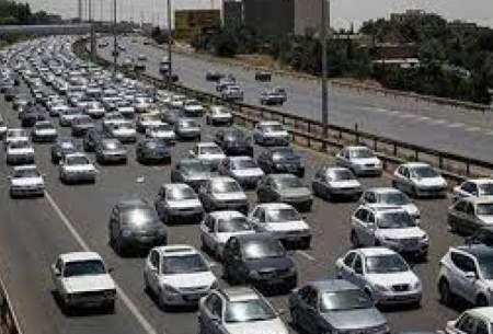 ترافیک در آزادراه کرج- قزوین سنگین است