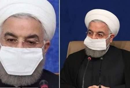 حسن روحانی ماسکش را عوض کرد/ تصاویــر